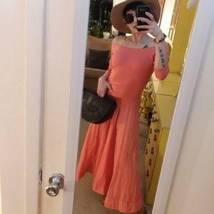 Luna Luz Maxi Dress Coral